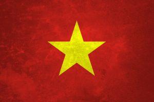 red background vietnam flag red