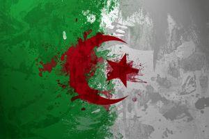red flag green algeria white
