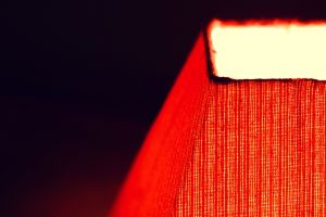 red lamp glowing simple
