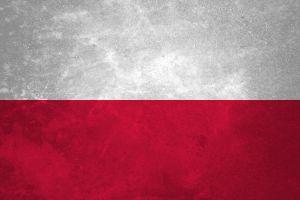 red poland flag white