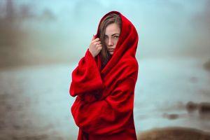red women model robes