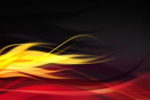 red yellow graphic design wavy lines abstract