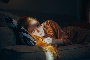 redhead blue eyes women