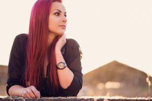 redhead dyed hair model women