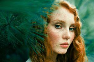 redhead face model women