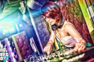 redhead headphones women video games