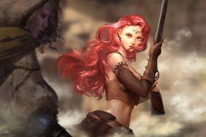 redhead original characters gun