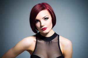 redhead portrait face women