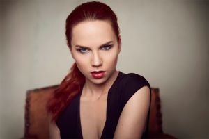 redhead women face angry