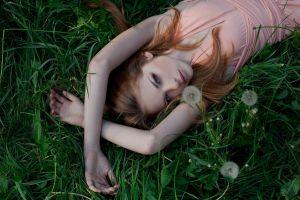 redhead women outdoors women