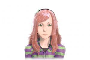 redhead women vivian james white background green eyes freckles
