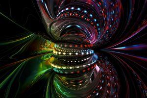 reflection cgi abstract colorful