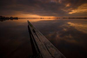 reflection lake clouds