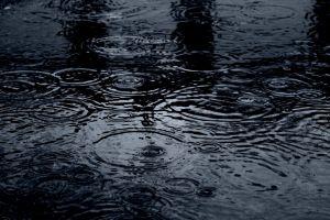 reflection love puddle nature rain happy water black ripples dark