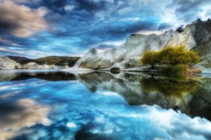 reflection nature landscape