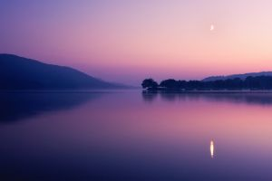 reflection nature sunset lake landscape photography dusk water