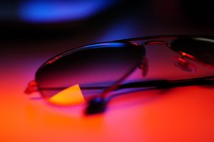 reflection sunglasses neon