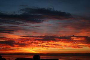 reflection sunset scotland clouds river reflection