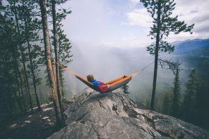 relaxing hammocks landscape vacation