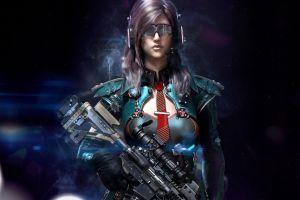 render artwork cyberpunk