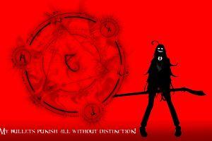 rip van winkle red background hellsing anime