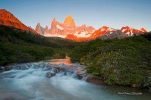 river mountains forest landscape nature