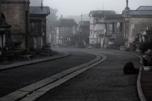 road dark city