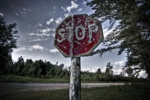 road hdr stop sign outdoors