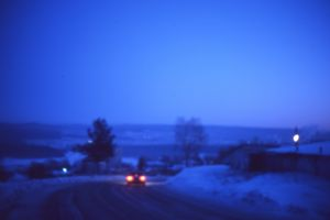 road landscape blurred trees frost blue winter photography nature