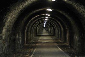 road underground tunnel