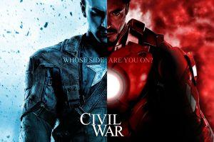 robert downey jr. movies iron man frontal view chris evans captain america marvel comics captain america: civil war