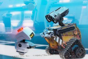 robot disney wall-e pixar animation studios cyan dirt