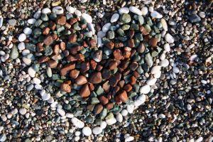 rock nature heart