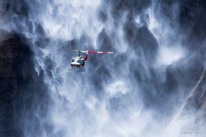 rock usa yosemite falls waterfall flying vehicle helicopters yosemite national park nature