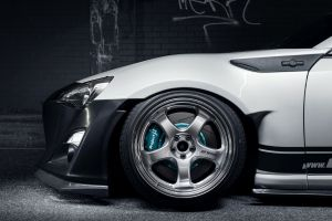 rocket bunny toyota gt86 car side view toyota work wheels stance toyota 86 toyobaru