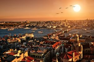 rooftops city cityscape photoshop istanbul