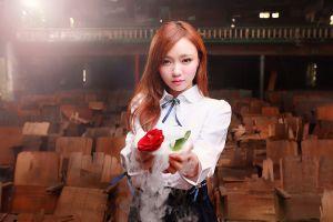 rose women model asian
