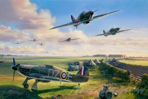 royal airforce battle of britain world war ii military aircraft hawker hurricane