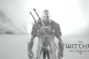 rpg geralt of rivia video games the witcher 3: wild hunt monochrome