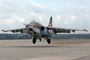 russian air force su-25 frogfoot airplane aircraft bomber