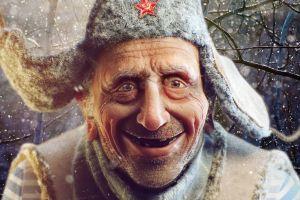 russian window snow