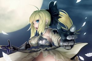 saber fate series anime girls saber lily anime