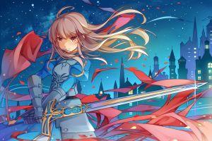 saber sword fate series