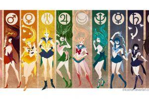 sailor moon poster anime girls deviantart collage