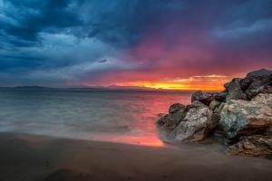 sand sunset beach