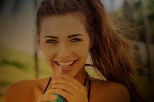 sandra kubicka people women model face brunette smiling