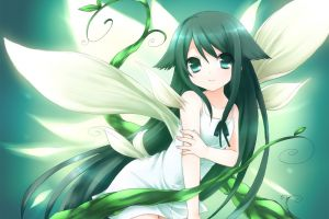 saya no uta anime girls animal ears dark hair saya long hair