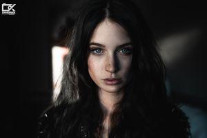 scarlett simoneit portrait brunette model women face