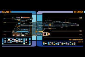 schematic lcars spaceship star trek