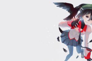 school uniform anime girls short hair oshino ougi monogatari series crow anime